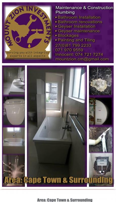 MOUNTZION PLUMBING AND RENOVATIONS
