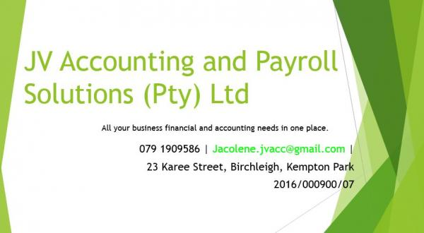 JV Accounting and Payroll Solutions (Pty) Ltd