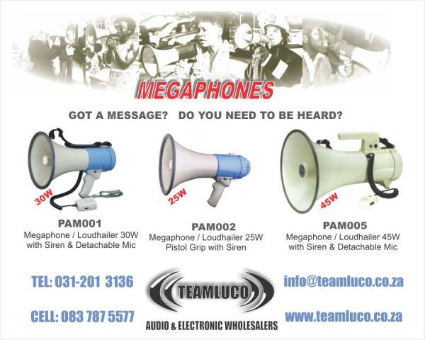 Megaphones Loudhailers