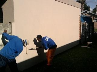 Tshepo and Leslie painting at waterbossie, , Rustenburg