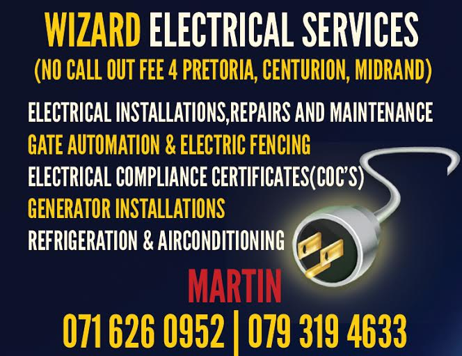 Electricians in Centurion (No Call Out Fee)