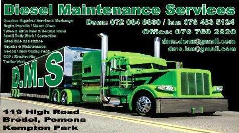 Diesel Maintenance Services t/a DMS