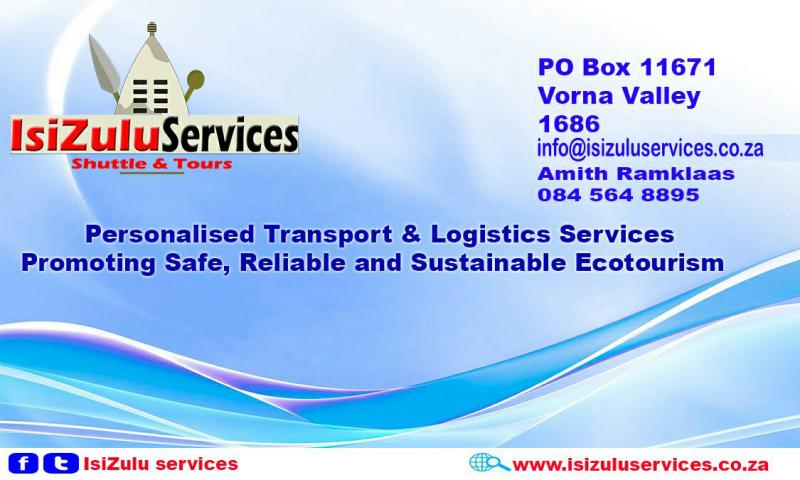IsiZulu Services - Shuttle & Tours