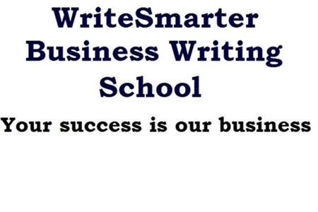 WriteSmarter On-line Business Writing School